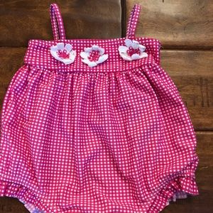 Adorable baby girl 1 piece swimsuit